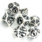 White & Black Dragons Dice Set